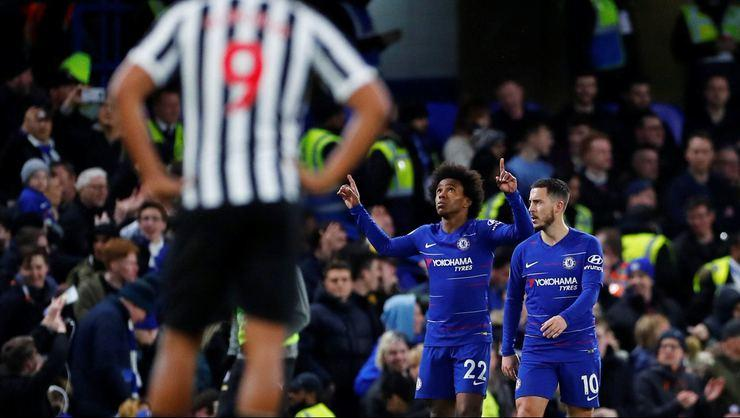 Chelsea'ye galibiyeti Pedro ve Willian getirdi