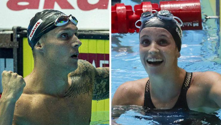 Caeleb Dressel ve Regan Smith'ten yüzmede iki dünya rekoru!